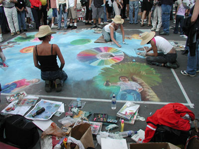 Artists bring the streets to life