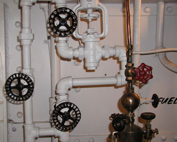 Now which valve controls the boiler?
